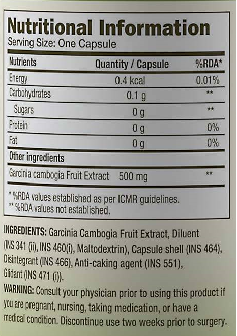 Gnc Garcinia Cambogia 500 Mg Natural Support For Healthy Weight