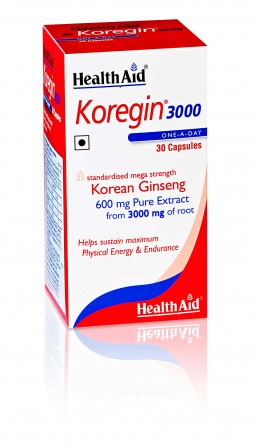 HealthAid Koregin 3000 (Korean Ginseng 600mg)  - 30 Capsules